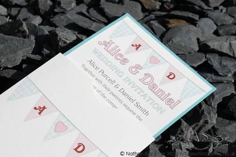 Bunting! Wallet Wedding Invitation