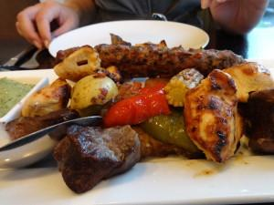 Shish taouk/ kafta / lamb meshwi /Roast vegetables