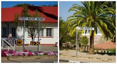 Street signs named after dictators in Windhoek.