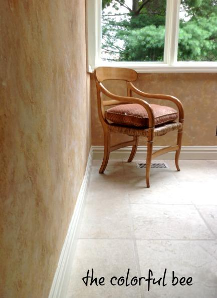 a finished Tuscan plaster after renovation