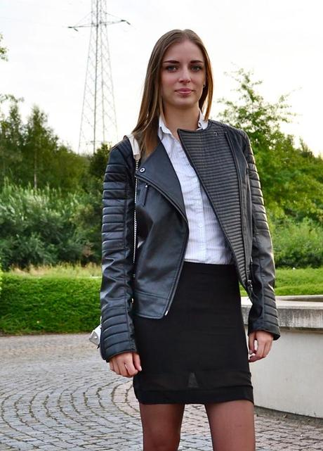 7271fe75d8d ... mango harley biker leather jacket asos sheer skirt dr martens combat  boots outfit outfitpost fashion blogger ...