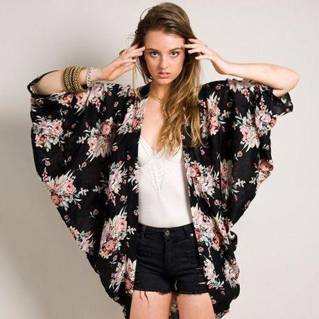 Keeping it Boho in a Kimono