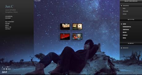 Jun.C's web layout.