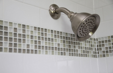 Shower glass mosaic