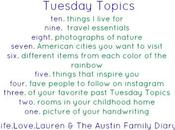 Tuesday Topics: Different Items From Each Color Rainbow
