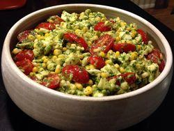 Corn-tomato-avocado salad