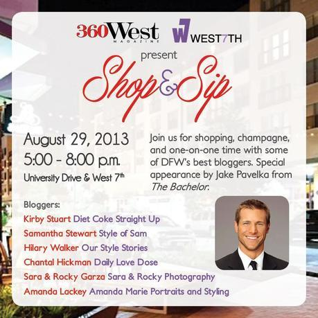 Shop and Sip Save the Date 8 20 13