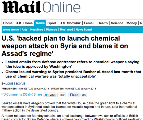 Another Obama War: All signs point to Syria chemical attack being a false flag