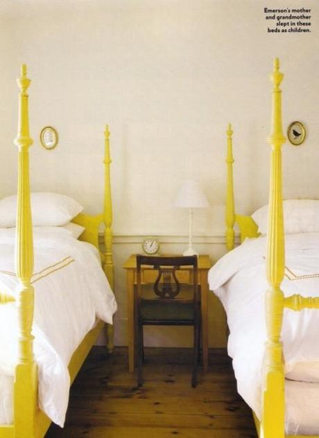 yellow four poster beds 509x700 Extend Summer with Pops of Yellow in Your Decor!