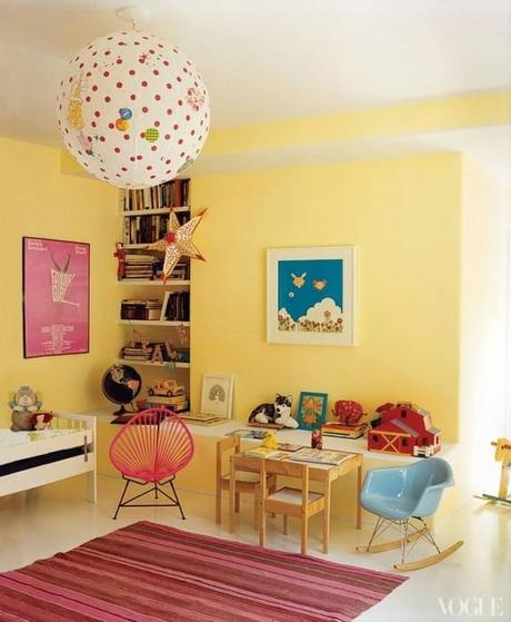 playroom soft yellow 576x700 Extend Summer with Pops of Yellow in Your Decor!