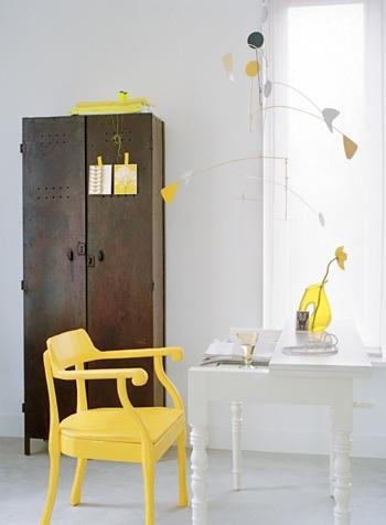 yellow desk chair Extend Summer with Pops of Yellow in Your Decor!