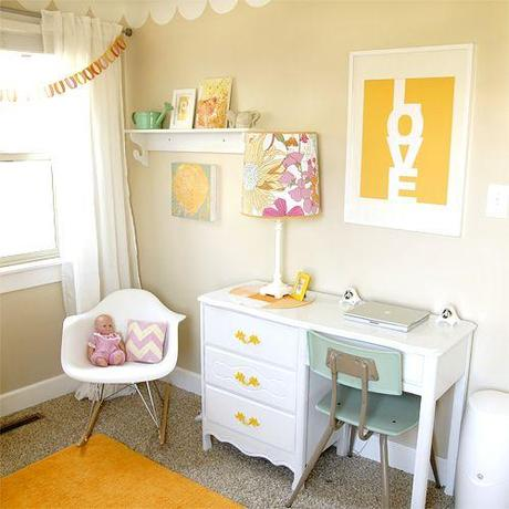 girls room yellow accents Extend Summer with Pops of Yellow in Your Decor!