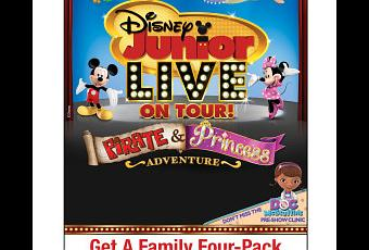Discount Mom Flyer for Disney Junior! Live on Tour Pirate and Princess