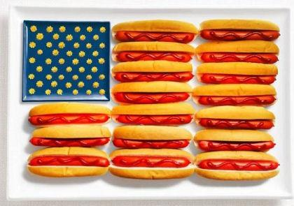 National Flags Created From The Foods Each Country Is Associated With