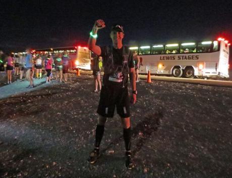 Mike Sohaskey at start of E.T. Full Moon Midnight Marathon 2013