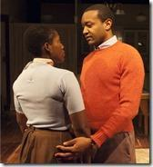 Mildred Marie Langford and Justin James Farley in Raisin in the Sun, TimeLine Theatre
