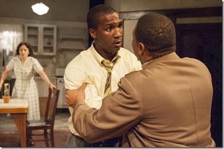 Toni Martin, Jerod Haynes and Wardell Julius Clark in Raisin in the Sun, TimeLine Theatre