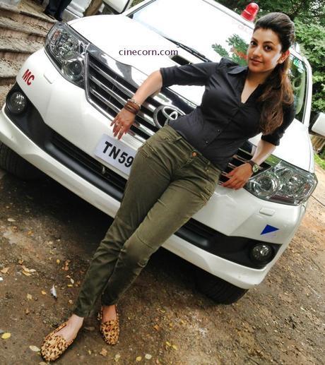 kajal vijay jilla on sets pics images galleries 1 Checkout Curvaceous Kajal On Sets Pics From Jilla