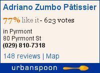 Adriano Zumbo Pâtissier on Urbanspoon