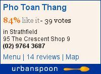 Pho Toan Thang on Urbanspoon