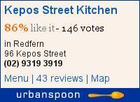Kepos Street Kitchen on Urbanspoon