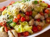 Gnocchi with Zucchini Ribbons Tomatoes