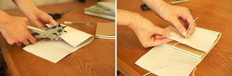 how to make a DIY leather notebook