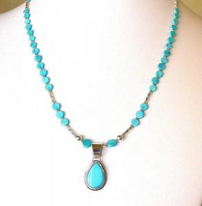 Photo sterling silver turquoise necklace