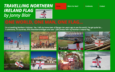 northern ireland flag travels backpacking