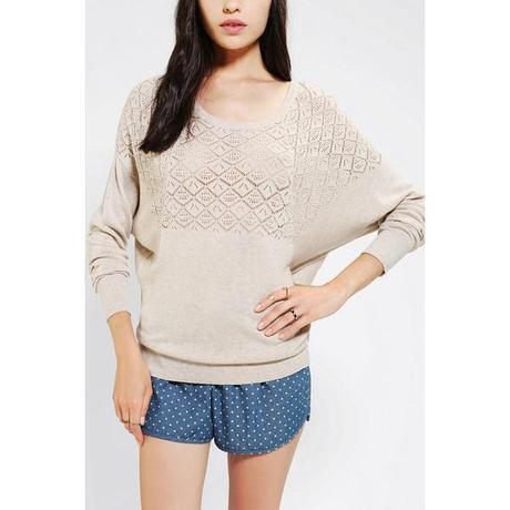 Pins And Needles Textured Yoke Dolman Sweater, fall, sweaters, cheap, must, haves, 2013, season, trend