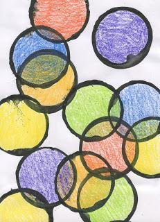 Kinder Art: Overlapping Circles
