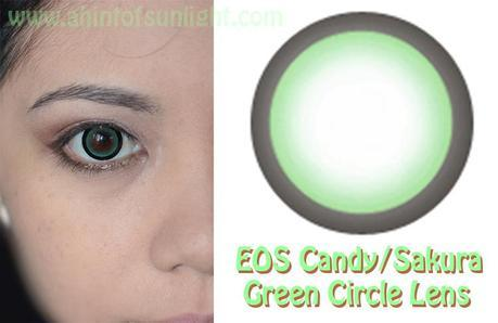 EOS Candy/Sakura Green Circle Lens Review (Loveshoppingholics)