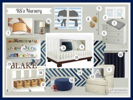 E-Design: RS's Blue and Gray Nursery