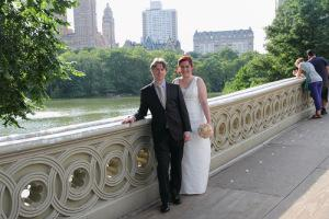 s&j bow bride central park married