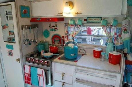 My little vintage caravan project sprucing up the for Caravan kitchen storage ideas