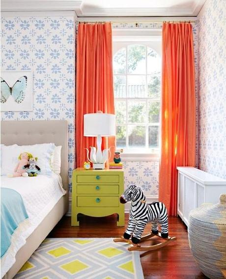 pintrest full length orange Ask Barbara: What Length Should My Childs Drapes Be?