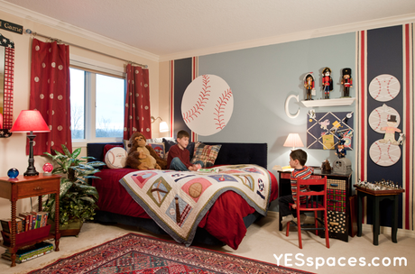 Yes Spaces baseball room Ask Barbara: What Length Should My Childs Drapes Be?