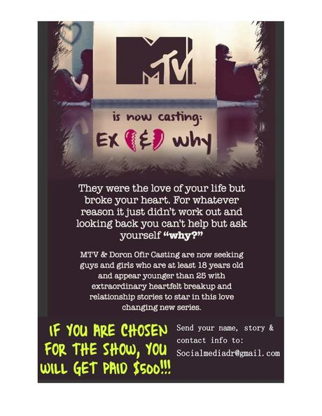 Casting Call: MTV is Looking for Ex-lovers - Paperblog