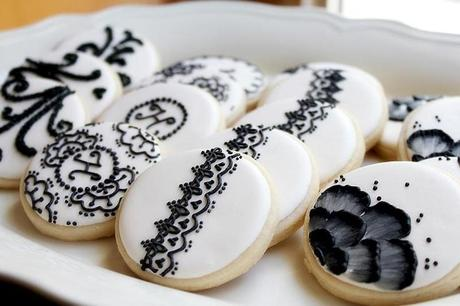 Black and White Decorated Cookies