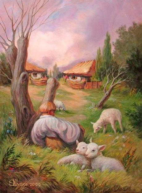 Ukranian painter masters the art of optical illusion two