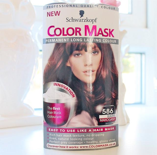 Schwarzkopf Color Mask Warm Mahogany 586  Dark Brown Hairs