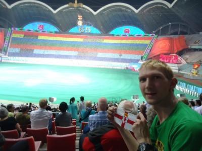 northern ireland flag mass games