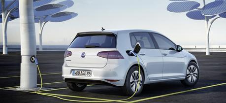 VW e-Golf was shown at 2013 IAA Motor Show in Frankfurt, Germany. (Credit: VW)