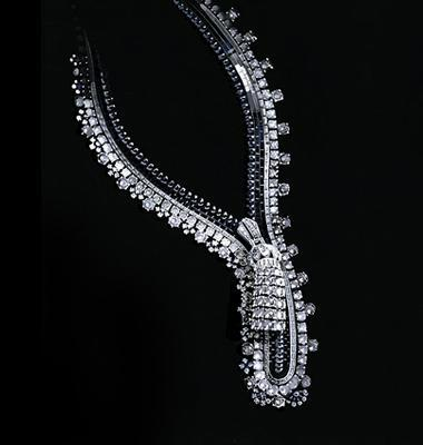The first zip necklace drawing for the Duchess of Windsor by Van Cleef and Arpels