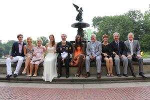 S&L central park group wedding bethesda fountain