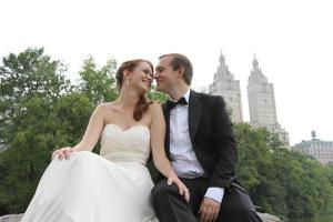 S&L rock central park NYC wedding