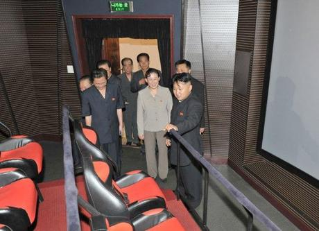 Kim Jong Un tours a 3D movie theater at Ru'ngra People's Pleasure Park in Pyongyang (Photo: Rodong Sinmun).