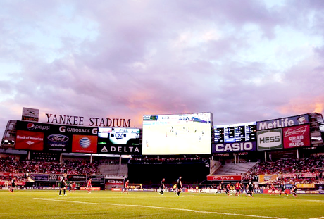 new york city spot: yankee stadium (for a soccer game?)
