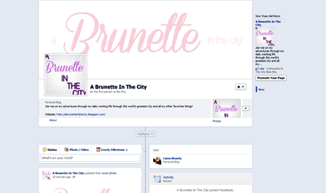 A Brunette In The City Facebook Page