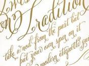 Belluccia Calligraphy Font Ceci York Invitation